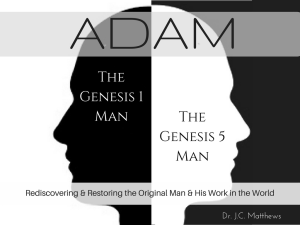 adam: rediscovering and restoring the original man and his work in the world series