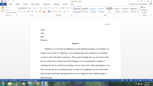definition essay (happiness)