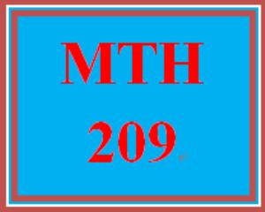 MTH 209 Week 5 Videos | eBooks | Education