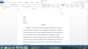 happiness essay