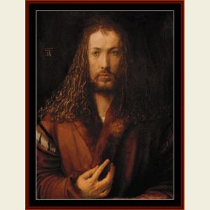 albrecht dürer self portrait - durer cross stitch pattern by cross stitch collectibles