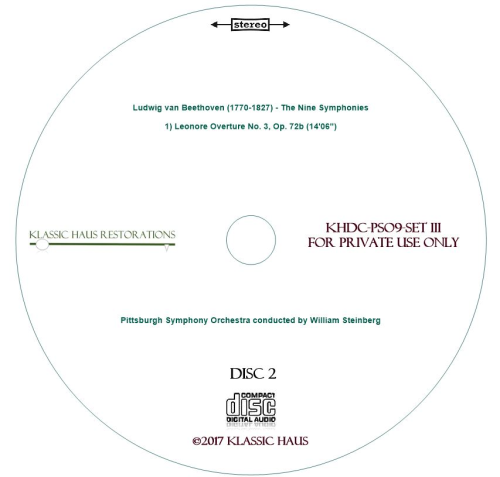 Fourth Additional product image for - Beethoven: 9 Symphonies Set III: Leonore No. 3/Sym. No. 9 - PSO/Steinberg