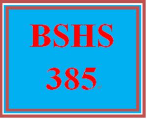 BSHS 385 Week 4 Skillful Interviewing | eBooks | Education