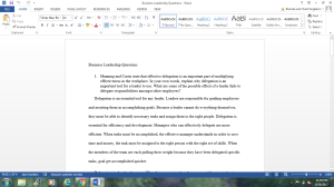 Business Leader Questions | Documents and Forms | Research Papers