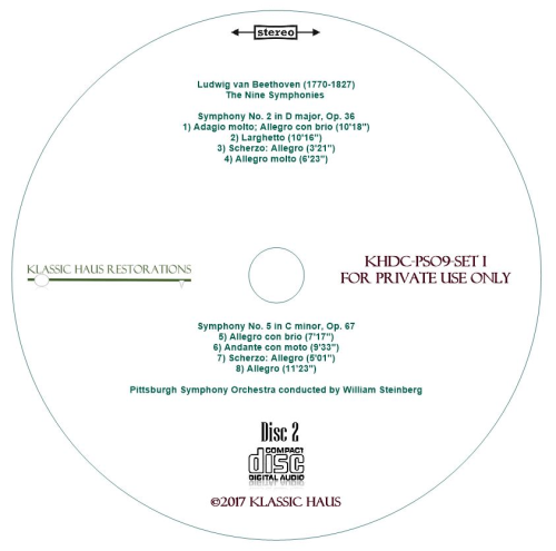 Third Additional product image for - Beethoven: 9 Symphonies Set I: Symphonies Nos. 1-2-3-5 - PSO/Steinberg