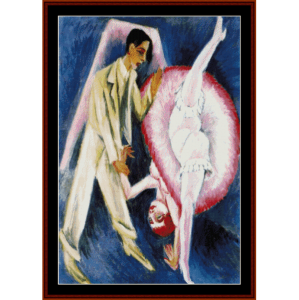 couple dancing - e.l. kirchner cross stitch pattern by cross stitch collectibles