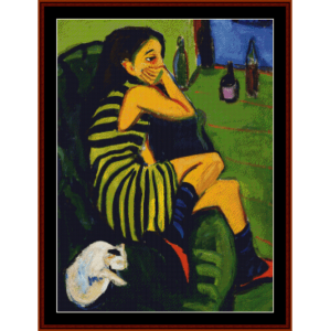 Female Artist - E.L. Kirchner cross stitch pattern by Cross Stitch Collectibles | Crafting | Cross-Stitch | Wall Hangings