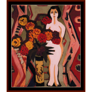 Still Life with Sculpture - E.L. Kirchner cross stitch pattern by Cross Stitch Collectibles | Crafting | Cross-Stitch | Wall Hangings