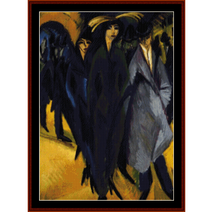 Women on the Street - E.L. Kirchner cross stitch pattern by Cross Stitch Collectibles   Crafting   Cross-Stitch   Wall Hangings