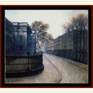 Montague Street, London - Hammershoi cross stitch pattern by Cross Stitch Collectibles   Crafting   Cross-Stitch   Wall Hangings