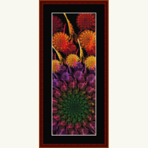 fractal 630.1 bookmark cross stitch pattern by cross stitch collectibles