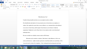 What motivates you? | Documents and Forms | Research Papers