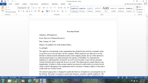 english 315 procedural email