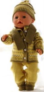 dollknittingpatterns 0177d rita - kofte, lue, bukse og sokker-(norsk)