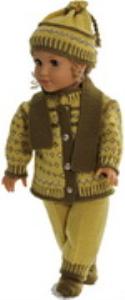 DollKnittingPattern 0177D RITA - Sweater, caps, pants, socks-(English) | Crafting | Knitting | Other