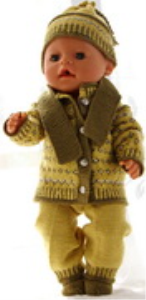 dollknittingpatterns 0177d rita - veste, chapeau, pantalon, écharpe et chaussettes-(francais)