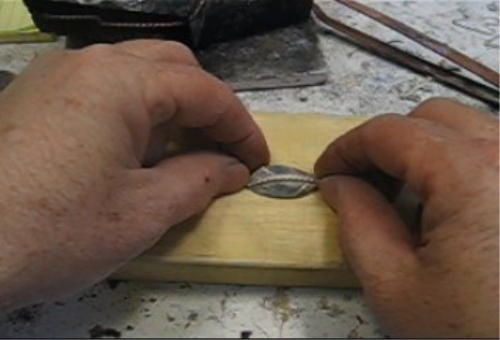 Third Additional product image for - Leaves, How to Make Your Own, taught by Don Norris, Silversmithing for jewelry making.