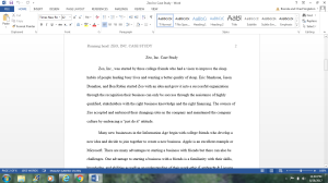 Zeo, Inc. Case Study | Documents and Forms | Research Papers