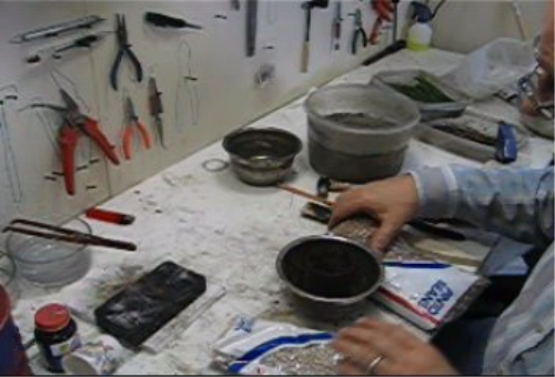 Third Additional product image for - Pine Needle and Bean Casting taught by Don Norris, Silversmithing for jewelry making.