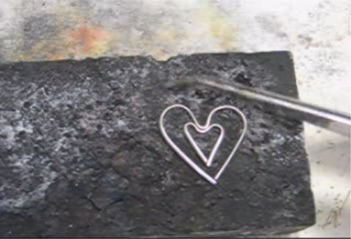 Second Additional product image for - Simple Project, Wire Hearts taught by Don Norris, Silversmithing for jewelry making.