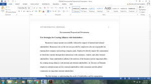 Environmental Proposal and Presentation | Documents and Forms | Research Papers
