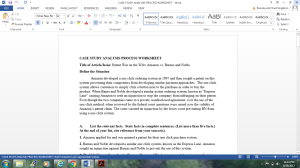 Case Study Analysis Process Worksheet | Documents and Forms | Research Papers