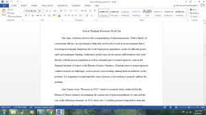 Critical Thinking Week One   Documents and Forms   Research Papers