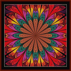fractal 639 cross stitch pattern by cross stitch collectibles