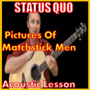 learn to play pictures of matchstick men by the status quo