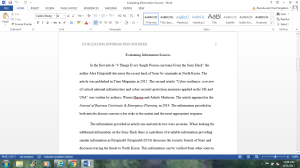 Evaluating Information Sources | Documents and Forms | Research Papers
