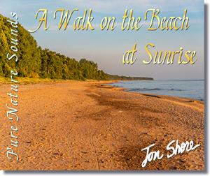 a walk on the beach at sunrise