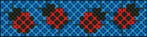 Lady Bugs Cuff Chart | Crafting | Cross-Stitch | Other