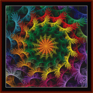 fractal 637 cross stitch pattern by cross stitch collectibles