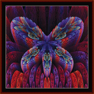 fractal 638 cross stitch pattern by cross stitch collectibles
