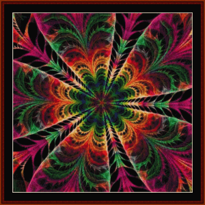 Fractal 636 cross stitch pattern by Cross Stitch Collectibles | Crafting | Cross-Stitch | Wall Hangings