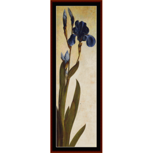 iris troiana - durer cross stitch pattern by cross stitch collectibles