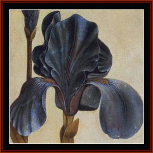 iris, detail - durer cross stitch pattern by cross stitch collectibles