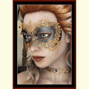 masquerade - fantasy cross stitch pattern by cross stitch collectibles