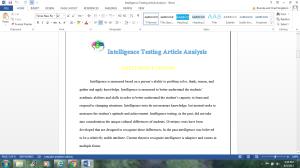 intelligence testing article analysis