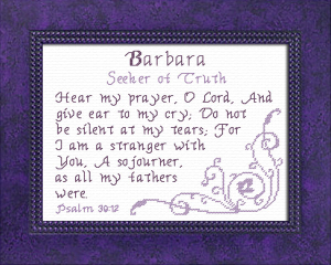 name blessings - barbara 3