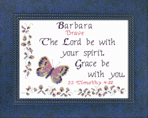 Name Blessings - Barbara 2 | Crafting | Cross-Stitch | Religious