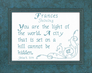 name blessings - frances