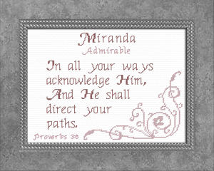 name blessings - miranda