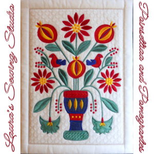 Poinsettias and Pomegranates PES   Crafting   Embroidery