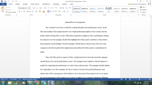 Assignment 4: Annual Review | Documents and Forms | Research Papers