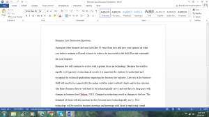 Business Law Discussion | Documents and Forms | Research Papers
