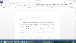 BA330 Unit Six: Public Relations and Promotions   Documents and Forms   Research Papers