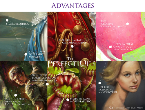 First Additional product image for - 50%Off! The Perfect Oils • Mixer Brush Presets for Photoshop versions from CS5