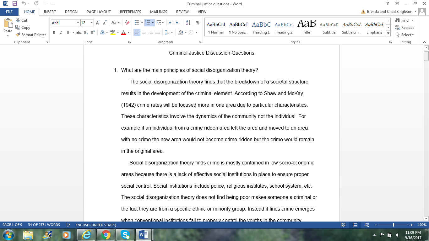 Research papers on criminal justice