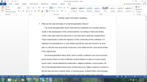 Criminal Justice Discussion Questions   Documents and Forms   Research Papers